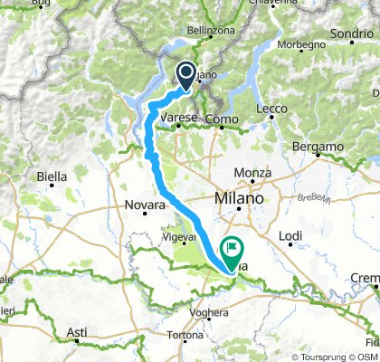 Day 4 Lavena Ponte Tresa to Pavia