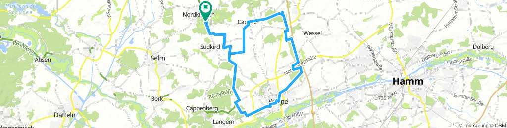 Münsterland Schloss Nordkirchen Rundroute 44 km
