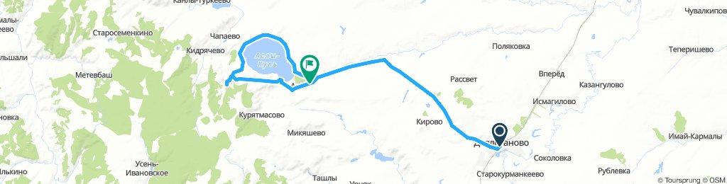 Велопоход к озеру Аслыкуль