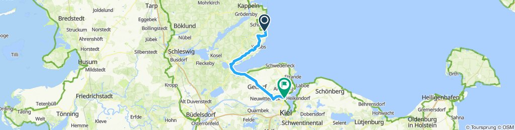 2019 Ostsee 3, Damp-Kiel zum Auto