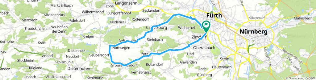 Samstag Route ins Fürther Hinterland