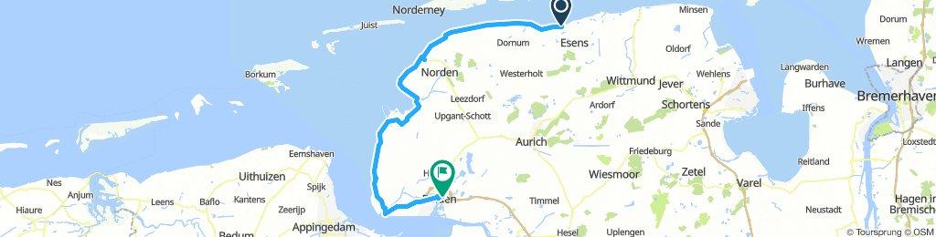 2018 Nordsee- und Emsradweg E05 Langeoog - Emden