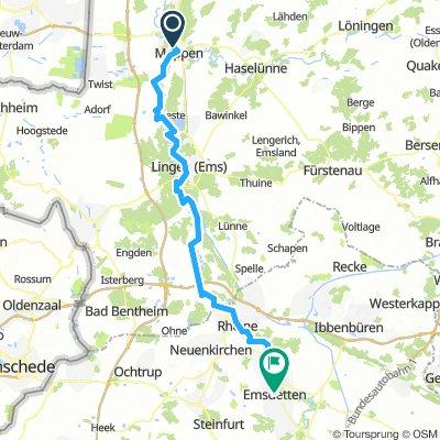 2018 Nordsee- und Emsradweg E07 - Meppen - Emsdetten