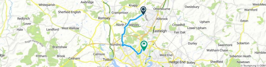 5WD to uni via N Baddesley & Lords Hill