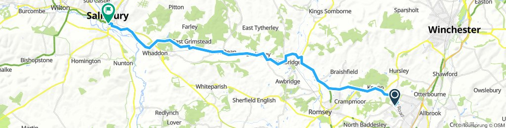 chandlers ford to Salisbury
