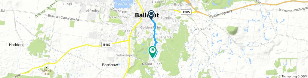 Cartledge Avenue to Ballarat CBD