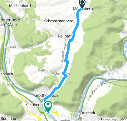 Mönchberg to Großheubach