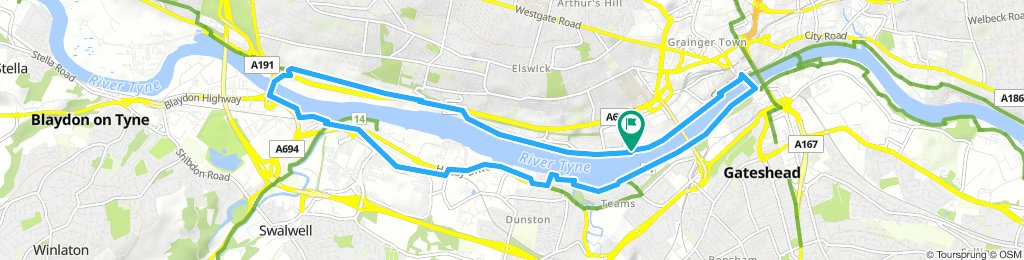 Lengthy Morning Route In Metro Centre loop, Newcastle Upon Tyne