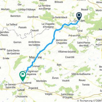 Carrouges - St Jean sur Mayenne