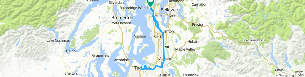 Seattle-Tacoma Round Trip | Bikemap - Your bike routes on