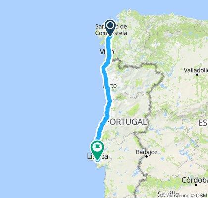 Santiago de Compostela, Spanje - Lissabon, Portugal
