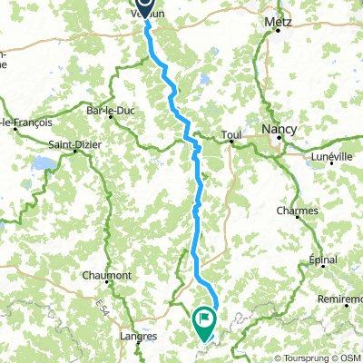 rit 3 Verdun - Vaux La Douce