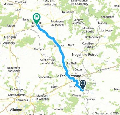 Melleray to Le Mele-sur-Sarthe Alt Day 8