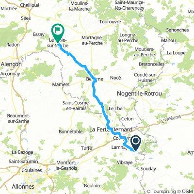 Melleray to Le Mele-sur Sarthe Alt Day 8