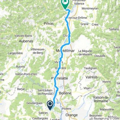 terugrit dag 2 naar Saint-Laurent du Pape