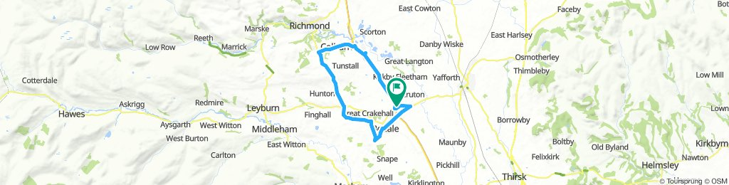 Lengthy ride through Northallerton