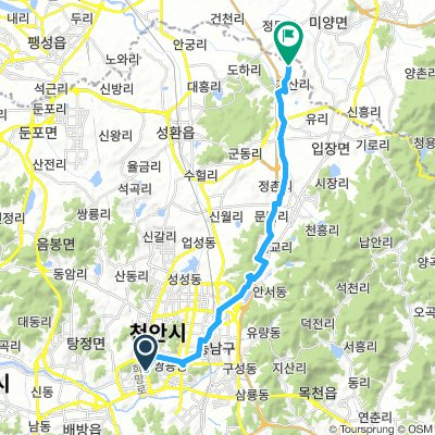 Cycling routes and bike maps in and around Cheonan | Bikemap - Your ...