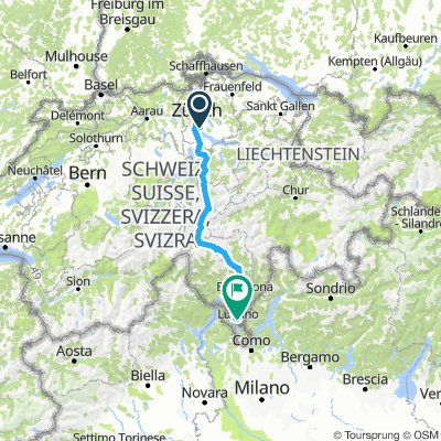 Zurich to Lugano