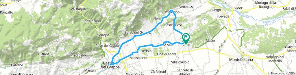 Asolo - Possagno - Bassano - Possagno