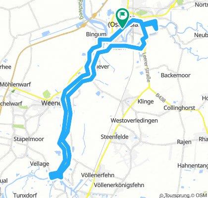 Leer - Emsdeich -  Papenburg - Emsdeich - Leer