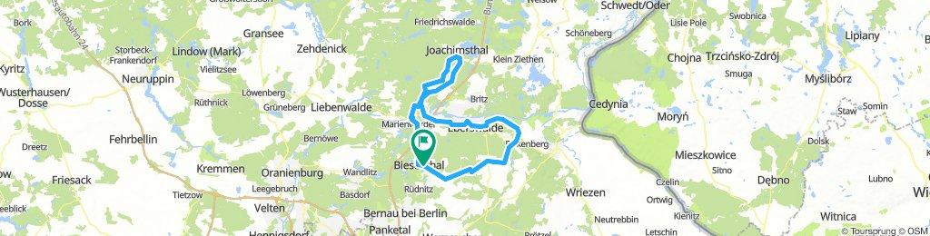 Finowkanal - Werbelinsee für Rennrad