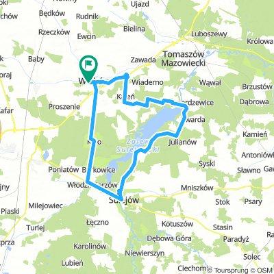 Zalew Sulejowski - pętla 60km