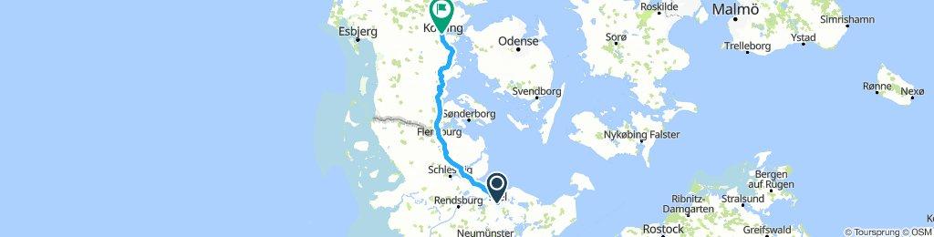 1. etappe - Kiel-Kolding