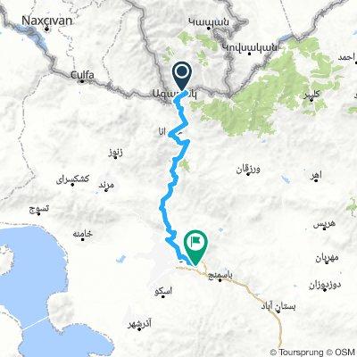Meghri - Tabriz direkt
