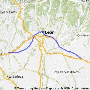 Jakobsweg per Rad Etappe 8: El Burgo Ranero - Hospital de Órbigo (76,1 km)