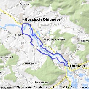 kleine Weserrunde bei Hameln