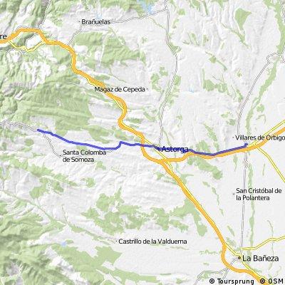 Jakobsweg per Rad Etappe 9: Hospital de Órbigo - Rabanal del Camino (37,4 km)