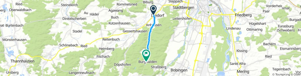 Moderate Sonntag Route In Diedorf