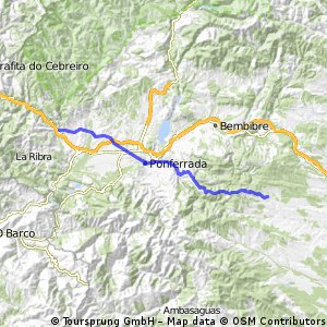 Jakobsweg per Rad Etappe 10: Rabanal del Camino - Villafranca de Bierzo (58 km)