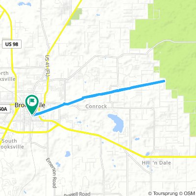Spred Out Morning Route In Brooksville