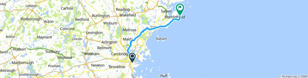 channel center to MARBLEHEAD NECK