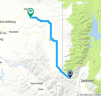Jackson Pass, WY to Famum, ID