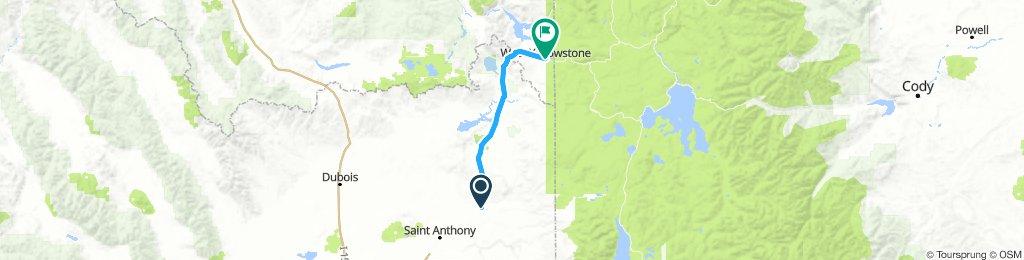 Ashton, ID to West Yellowstone, MT