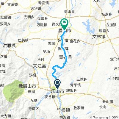 Lange Ausfahrt von Leshan nach Meishan