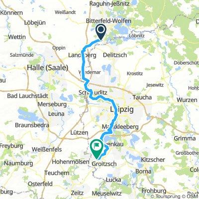Elster-Radweg (Tag 1)