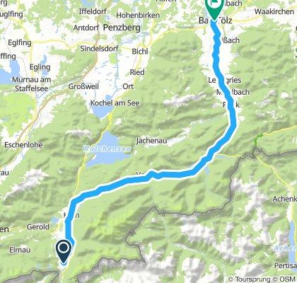 Jachenau Radtour von Mittenwald nach Bad Tölz