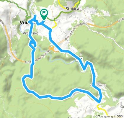 Vrbovsko - ruta Gomirje