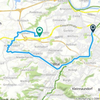 Firmenausflug - Familienrunde - Bergauf nach Kesselsdorf