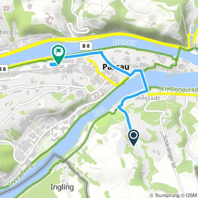 Inn - Radweg: 6. Tag zum Bahnhof.