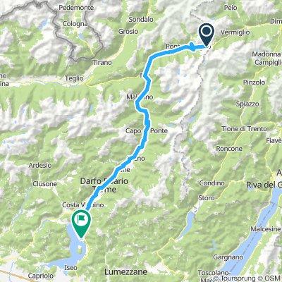 Ciclovia Fiume Oglio/Oglio river cycle path - Tratto in Valle Camonica/Valle Camonica's track