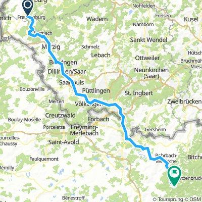 3ème étape Saarburg - Volksberg