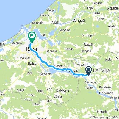 Ogre-Rīga ar minimālu trafiku