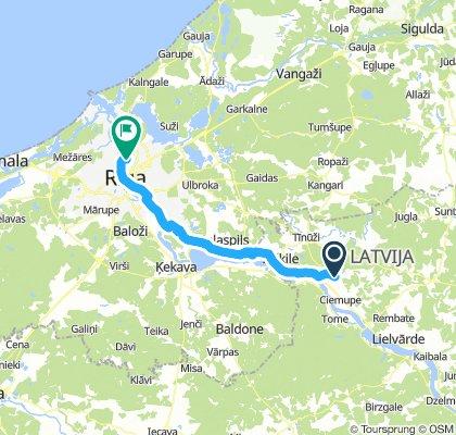 Ogre - Rīga ar minimālu trafiku