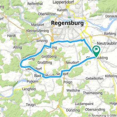 Rundkurs:Obertraubling-zur Donau-Bad Abbach-Obertraubling