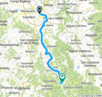 Etappe 1 v2/Florenz - Radda in Chianti