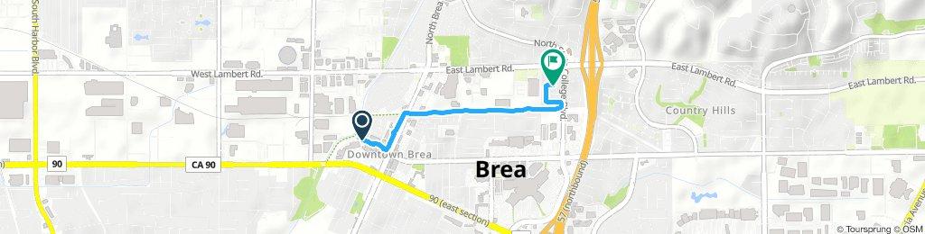 Steady Thursday Route In Brea